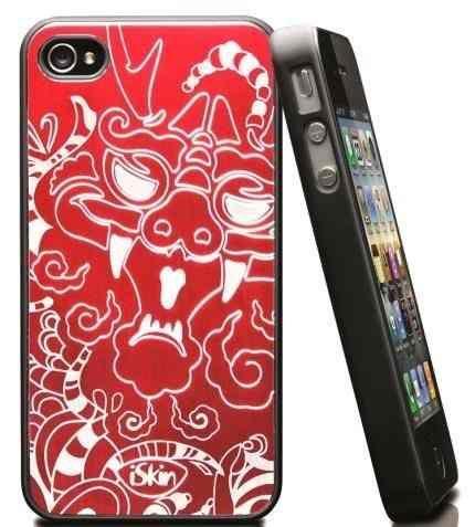 Capa Case Iski Aura Year Of Dragon Vermelho Para Iphone 4/4s - R$ 24,99