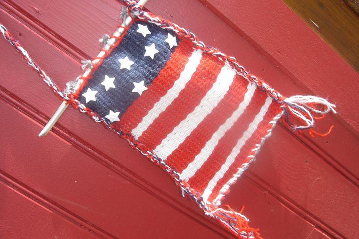 Tissage laine mural drapeau américain démesuré : Décorations murales par jodestyl