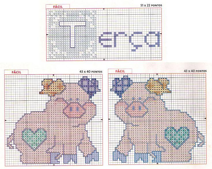 graficos de porquinho para bordar ponto cruz - Pesquisa Google