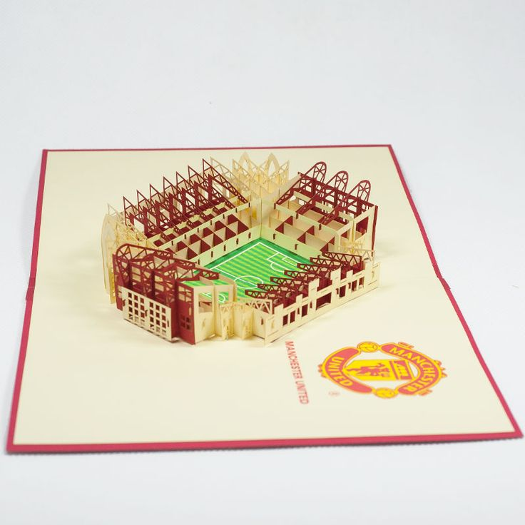 Pop up station card/ST002-Manchester/Pop up handmade station card for FC/Kirigami pop card/ Paper cutting pop up card in Vietnam/wholesales pop card Vietnam