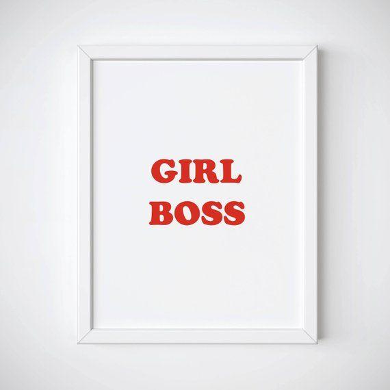 Sensational Girl Boss Printable Womens Day Gift Girl Boss Print Download Free Architecture Designs Scobabritishbridgeorg