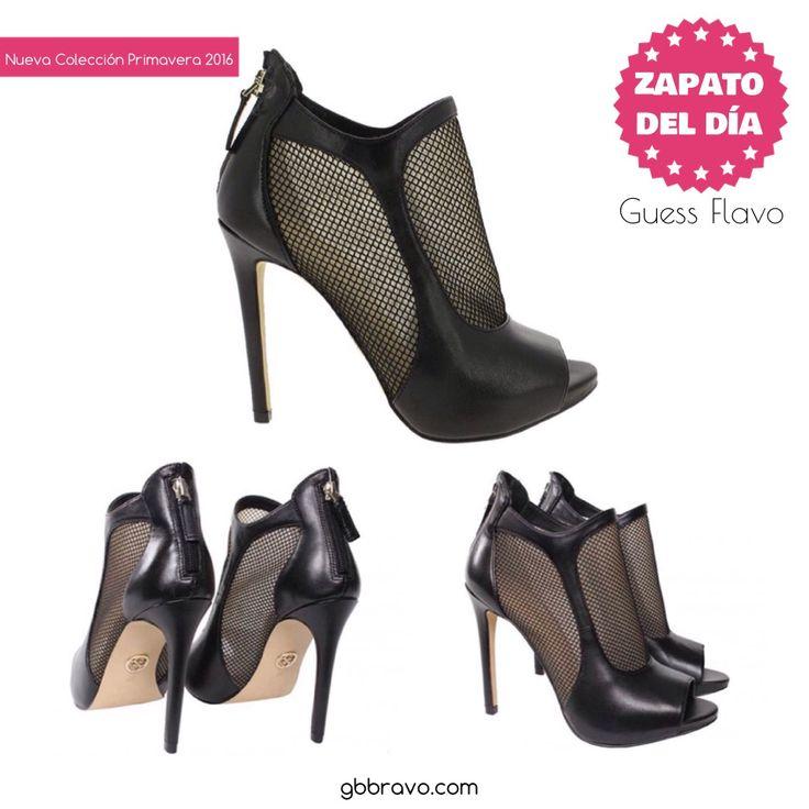 Espectacular Peeptoes de Guess.  ¿Con qué lo combinaríais?    #zapatos #zapatodeldía