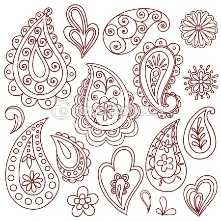 painting inspiration: flower doodles