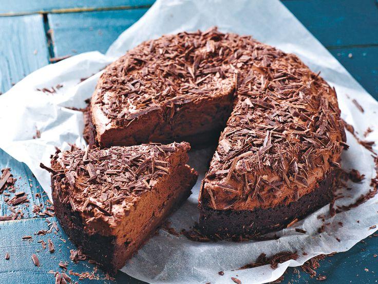 vegane Schokomousse Torte
