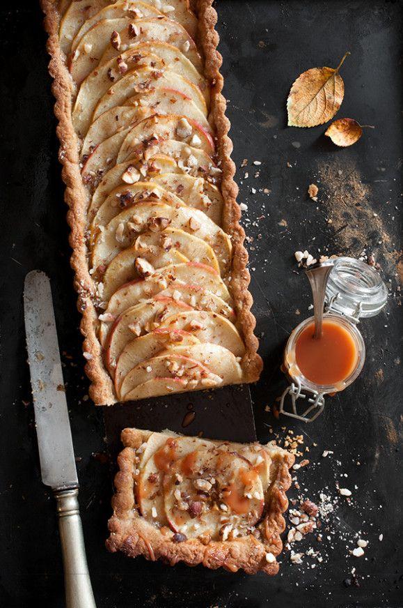 Tarte aux pommes au caramel beurre salé