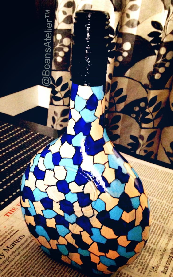 The Ocean-Sand Bouteille Finally I have resolved to write about my bottle painting to stir the crafter in you. So folks, it is time to get your hands and your clothes dabbed with some paint until y…