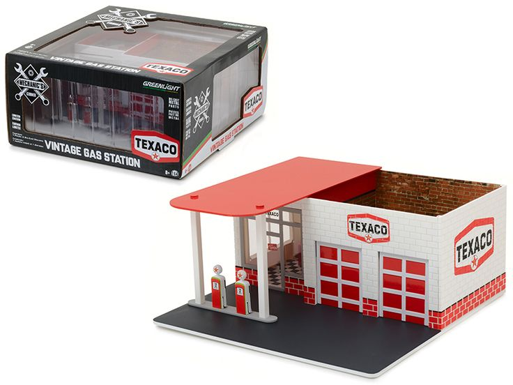 Diecast Model Cars wholesale toys dropshipper drop shipping Mechanic's Corner Series 1 Vintage Gas Station Texaco Oil 1/64 Greenlight 57013 drop shipping wholesale drop ship drop shipper dropship dropshipping toys dropshipper diecast drop shipper dro