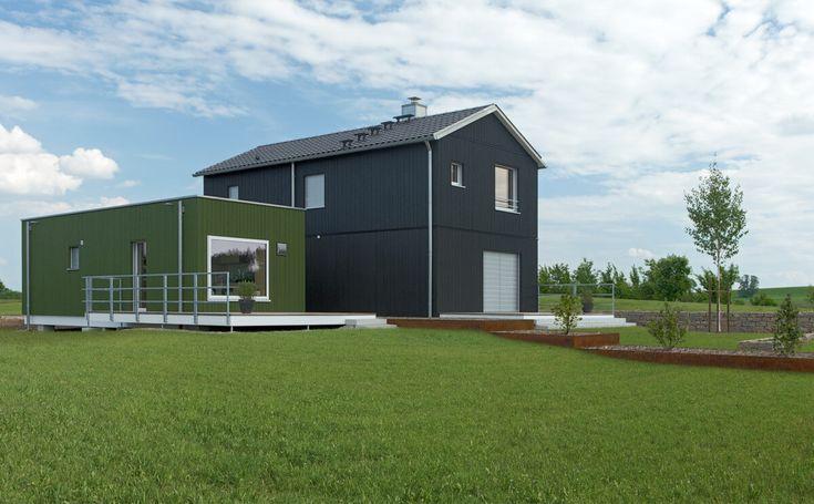 Skandinavisches Einfamilienhaus Modern Mit Satteldach Architektur