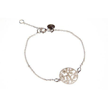 Bracelet arbre de vie en argent sur chaîne en vente sur L'Atelier d'Amaya, bijoux en argent ou plaqué or pour femme, homme et enfant.