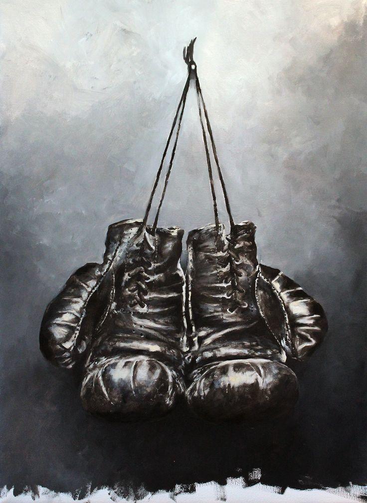 Cory Jespersen Oil on Canvas. Boxing Gloves