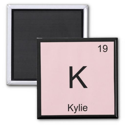 11 best kylie images on pinterest kylie names and baby girls kylie name chemistry element periodic table magnet urtaz Choice Image
