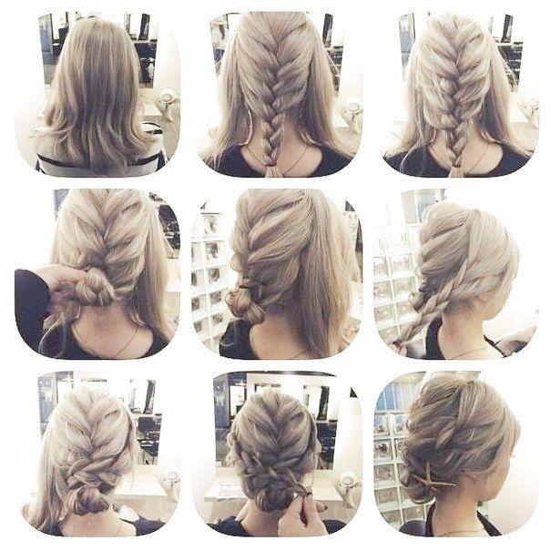 Cute Hairstyles For Medium Length Straight Hair Hairstyles Easy Hairstyles For Girls Curly Braided Hairstyles Short Curly Hair Short Hair Updo