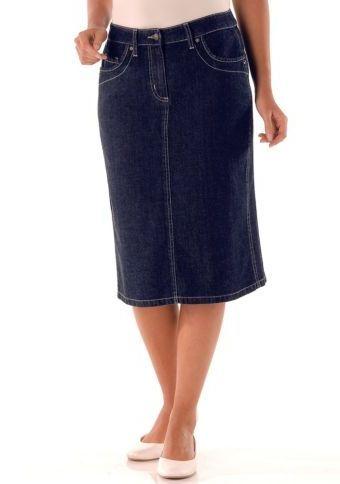 Džínová sukně s rozparkem #ModinoCZ #jeans #blue #trendy #style #fashion #moda #moda #denim #sukne #skirt