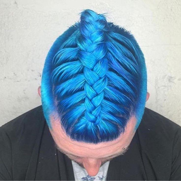 blue hair color for men