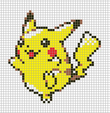 Pokemon from the Generation 1 Series. Placed in grid format to make it easier for pixel-arters to create on minecraft, in hama form, cross-stitch or other form of non-isometric pixel art. (All righ...