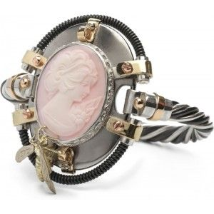 Ik vond dit op Beslist.nl: Diamond Point Steampunk gouden en zilveren armband