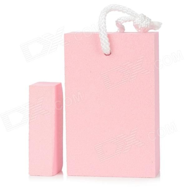 Brand: N/A; Model: 2048; Quantity: 2 piece(s) per pack; Color: Pink; Material: EVA resin + abrasive sand; Function: Use nano materials with abrasive sand on surface, easy to remove stubborn marks including oil stain, rust stain, etc. Can be cut as small block to use, without wasting; Other Features: Size: 11 x 7 x 2.8cm / 7 x 2.8 x 2.2cm; Packing List: 1 x Large stain eraser1 x Small stain eraser; http://j.mp/1toGnzP