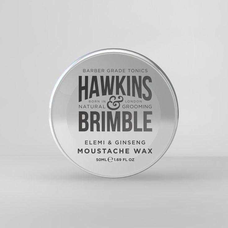 Hawkins & Brimble Moustache Wax 100ml  www.hawkinsandbrimble.co.uk