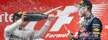 Champagne and F1 celebrations It wasn't until June 11, 1967, when Dan Gurney, winning driver of the Shelby-American team, took hold of the champagne and started spraying the crowd. www.the-champagne.ch