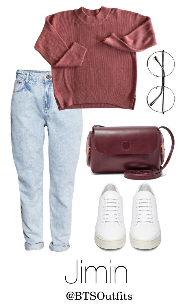 """Theater with Jimin"" by btsoutfits ❤ liked on Polyvore featuring H&M, Off-White, Retrò and FOSSIL"