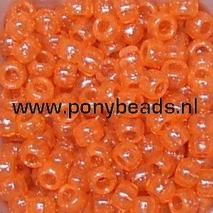 Haarkralen glitter hyacint / Pony beads sparkle hyacint