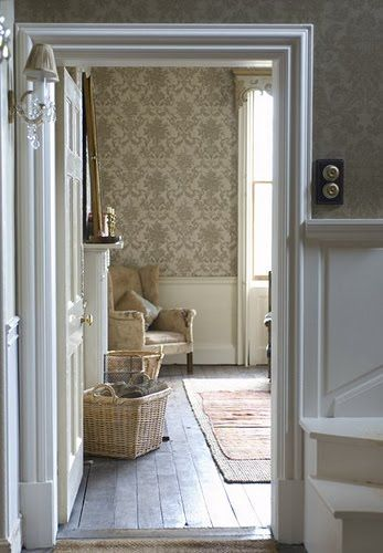 I love a home where everything is old instead of new, even the wallpaper!  So rich in history and character!