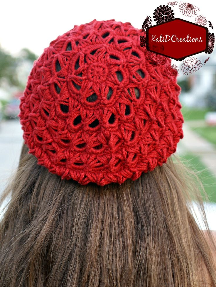 Excellent Broomstick Lace Slouchy Hat Free Pattern from KatiDCreations