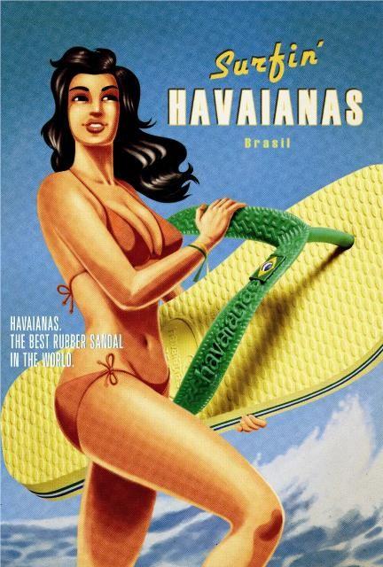 Havaianas. Década de 1950