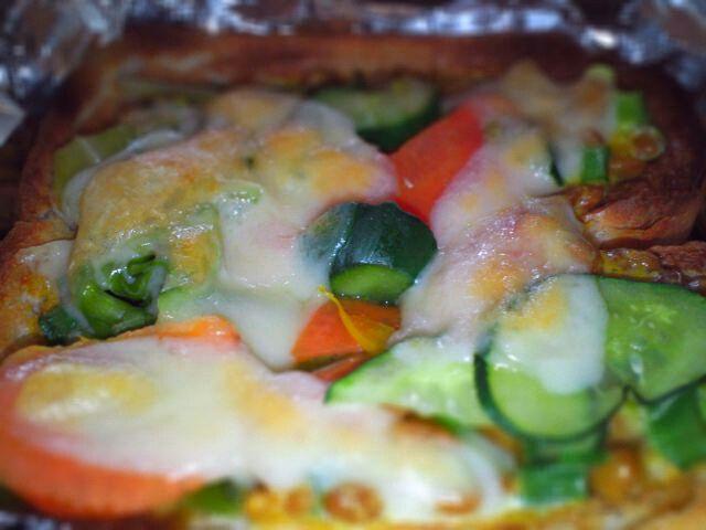 納豆と食パンが大好きなので、冷蔵庫には納豆は絶対買い置きしてます。 勿論食パンも!!! - 28件のもぐもぐ - 納豆ピザトースト by miyuchann