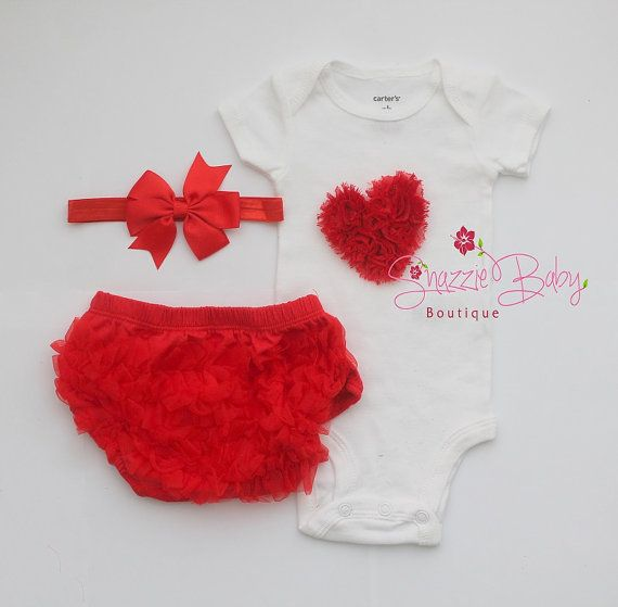 valentine day baby outfitheart by snazziebabyboutique on etsy 3500 - Infant Valentines Day Outfits