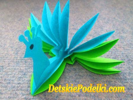 Птицы из бумаги » Детские поделки. Детский сайт с поделками из бумаги и фетра.