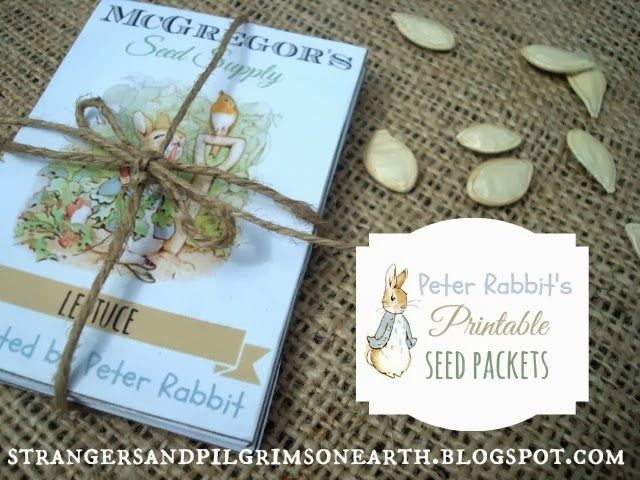 Cute Mr. McGregor's (Peter Rabbit's) Seed Packets ~ Free Printable - to store your seeds in or give seeds as a gift