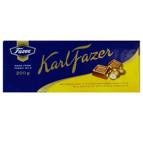 Fazer Milk Chocolate with Hazelnuts – 200g $6.50