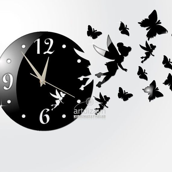 decorative wall clock modern wall clock with fairy large wall clock black wall clock