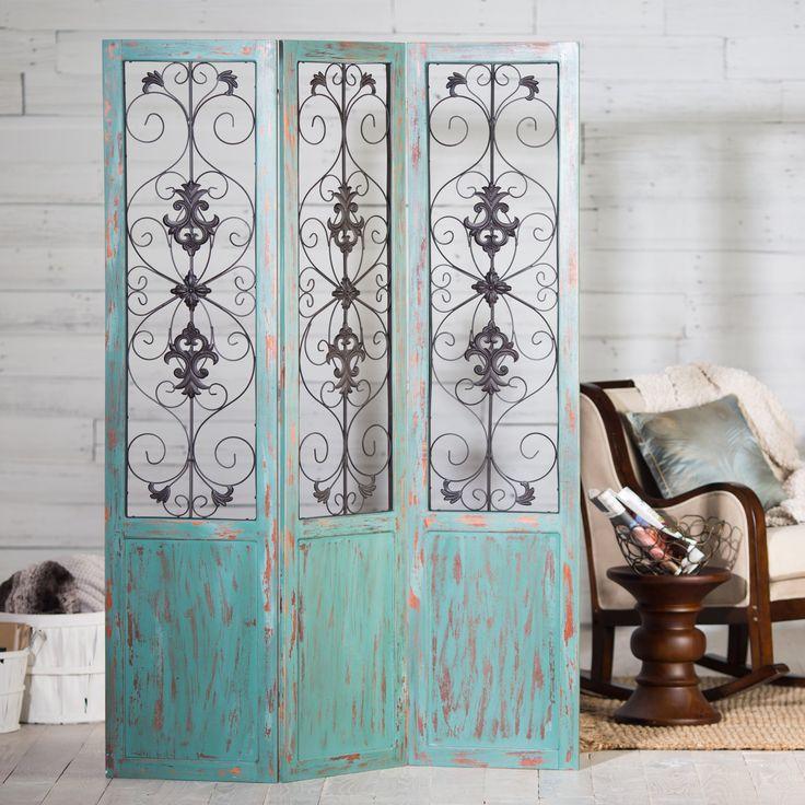 To hide cat box...  Have to have it. Belham Living Versailles Room Divider - $199.98 @hayneedle