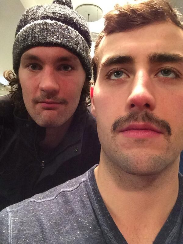Jordan Eberle and Luke Gazdic's #Movember staches #Oilers