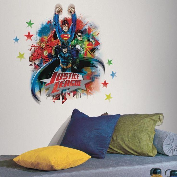 JUSTICE LEAGUE Giant Wall Decals Superman Batman Room Decor Stickers DC COMICS: $17.60 (0 Bids) End Date: Sunday Mar-11-2018 20:32:10 PDT…