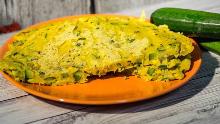 Farifrittata di zucchine (frittata per alimentazione vegana)