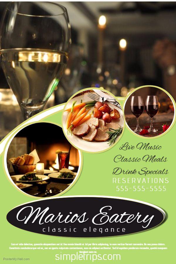 Best restaurant poster templates images on pinterest