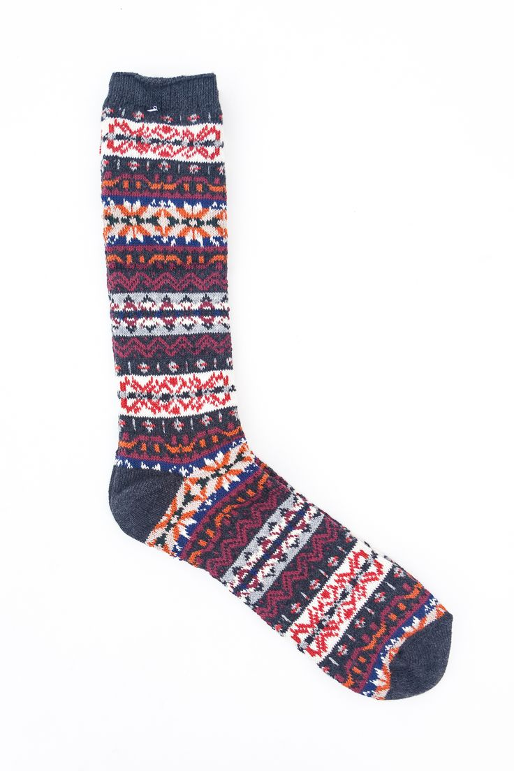 Anonymous Ism - Fair Isle Crew Charcoal