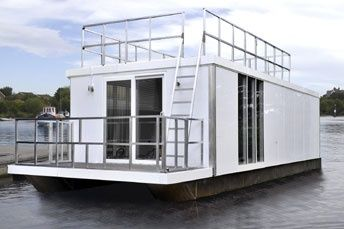 houseboat on pontoons plans - Google Search