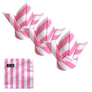 PINK STRIPE 33cmx33cm 20 pack $6.95