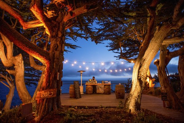 setting (Private Estate Wedding in Big Sur, California, Photos by Mott Visuals Weddings)