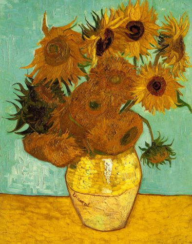 Vase with Twelve Sunflowers Vincent van Gogh and also visit our REAL COLLECTION only in rorisvangoghpainting.roripon.com