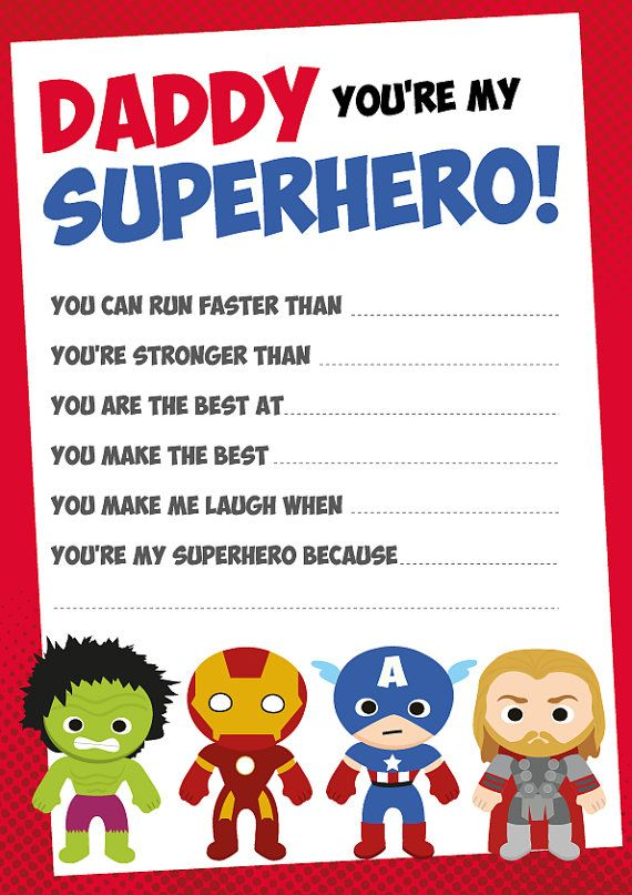 fathers day gift superheroes certificate diy fathers