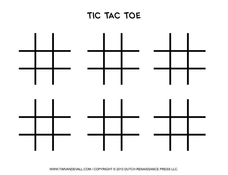 This is a graphic of Influential Tic Tac Toe Board Template