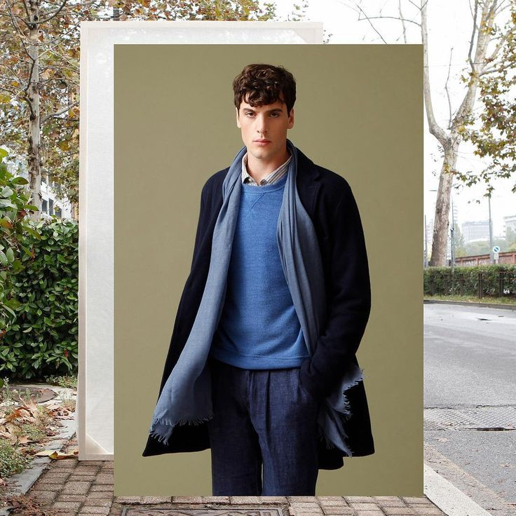Blue cashmere tones for the perfect look!  #blue #winter #cashmere #120percento #120cashmere #men #man #design #fashion #coat #shopping #store #brera #pontaccio #milano #scarf #sweater #look #outfit #grey #season #cool #cold #december