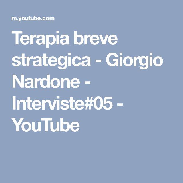 Terapia breve strategica - Giorgio Nardone - Interviste#05 - YouTube