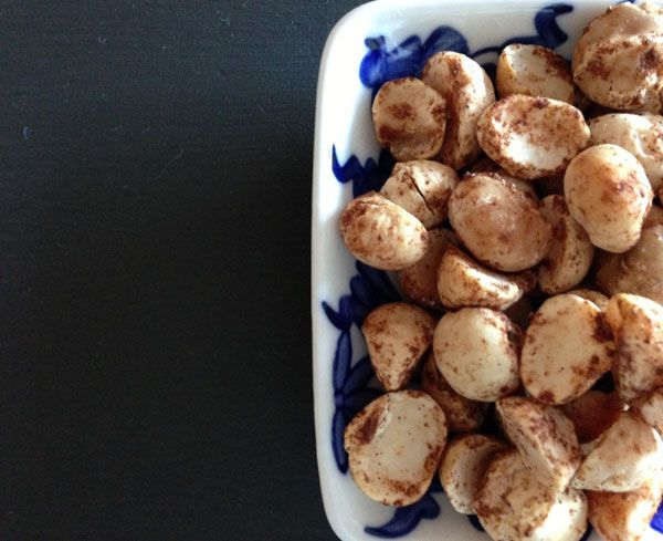 Sea salt, cinnamon and smoked paprika macadamias. Sometimes I also add a sprinkling of coconut sugar which is delicious! Long soaked and dried. Activated nuts Yoga in Yamba...
