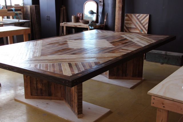 Dining table for 12 - co-designed by Nina Gotlieb and Ariele Alasko.